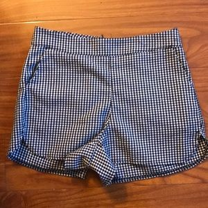 Brandy Melville Gingham High Waisted Shorts